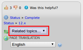 Use the Related Topics list to quickly jump to similar pages.